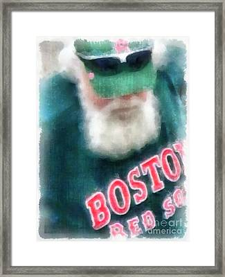 Santa Claus Spotted At Spring Training Framed Print by Edward Fielding