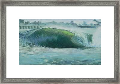 Santa Cruz Green Framed Print by Kathryn Colvig