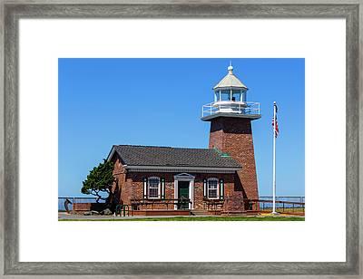 Santa Cruz Lighthouse Framed Print by Randy Bayne