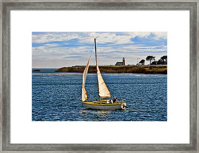 Santa Cruz Mark Abbott Memorial Lighthouse Ca  Framed Print by Christine Till