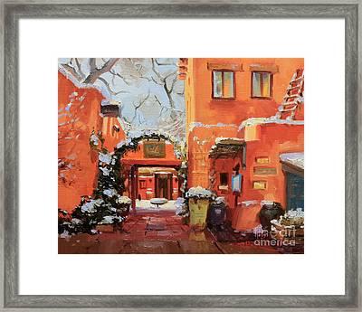 Santa Fe Cafe Framed Print by Gary Kim