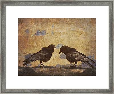 Santa Fe Crows Framed Print by Carol Leigh