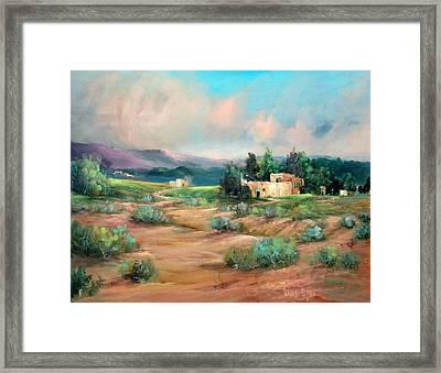 Santa Fe Pueblo Framed Print by Sally Seago