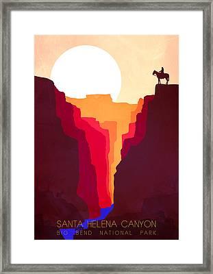 Santa Helena Canyon 1  Framed Print by Diana Van