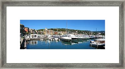 Santa Margherita Ligure Panoramic Framed Print by Adam Romanowicz