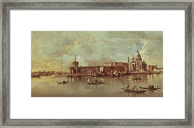 Santa Maria Della Salute Seen From The Mouth Of The Grand Canal Framed Print by Francesco Guardi
