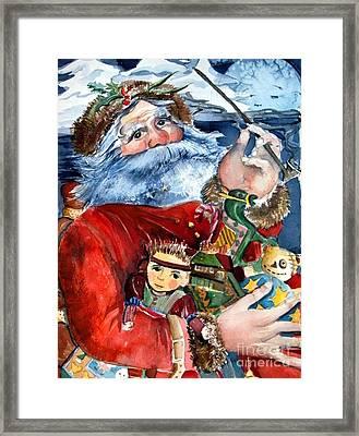 Santa Framed Print by Mindy Newman