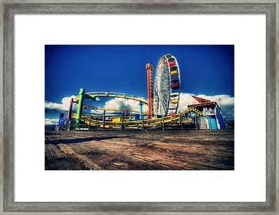 Santa Monica Framed Print by Chris Multop