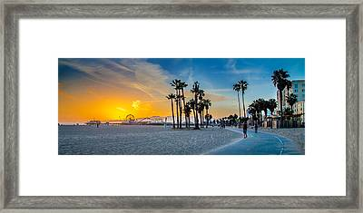 Santa Monica Sunset Framed Print by Az Jackson