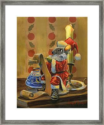 Santa Mouse Framed Print by Jeff Brimley