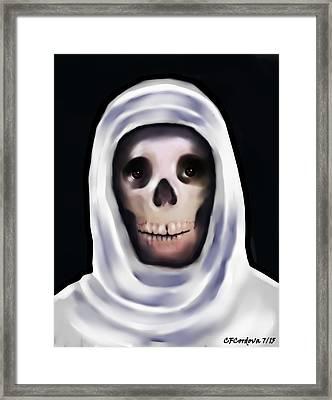 Santa Muerte Framed Print by Carmen Cordova