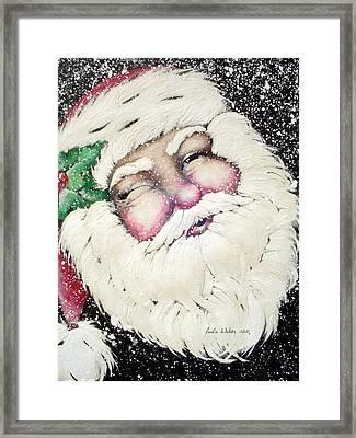 Santa Framed Print by Paula Weber