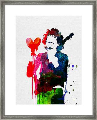 Santana Watercolor Framed Print by Naxart Studio