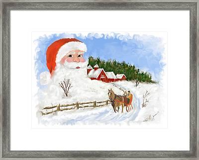 Santas Beard Framed Print by Susan Kinney