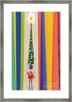 Santa's Christmas Tree Framed Print by Stanley Cooke