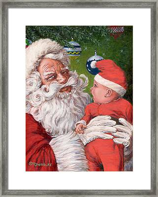Santas Little Helper Framed Print by Richard De Wolfe