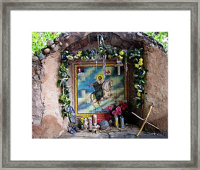 Santiago Apostel Chimayo Framed Print by Kurt Van Wagner