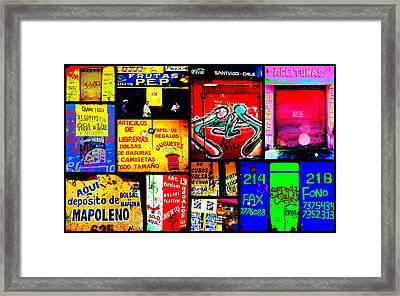 Santiago Funky Walls  Framed Print by Funkpix Photo Hunter