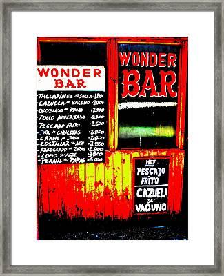 Santiago's Wonder Bar  Framed Print by Funkpix Photo Hunter