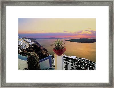 Santorini 012 Framed Print by Manolis Tsantakis