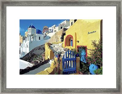 Santorini 021 Framed Print by Manolis Tsantakis