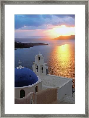 Santorini 03 Framed Print by Manolis Tsantakis