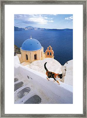 Santorini 04 Framed Print by Manolis Tsantakis