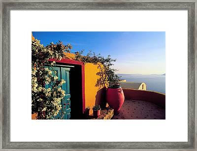 Santorini 09 Framed Print by Manolis Tsantakis