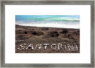 Santorini Framed Print by Antonio Gravante