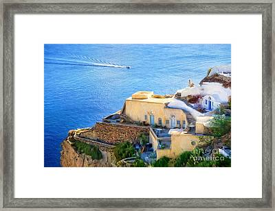 Santorini Greece Framed Print by HD Connelly