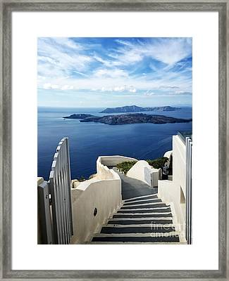 Santorini Framed Print by HD Connelly