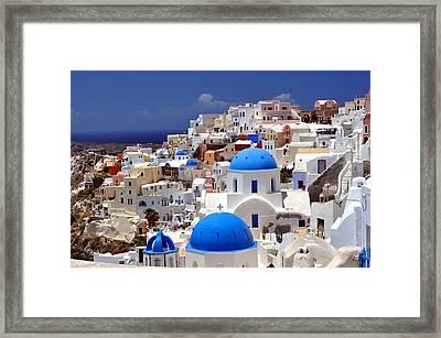 Santorini Island. Framed Print by Fernando Barozza