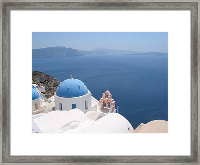 Santorini Framed Print by Mike Paget