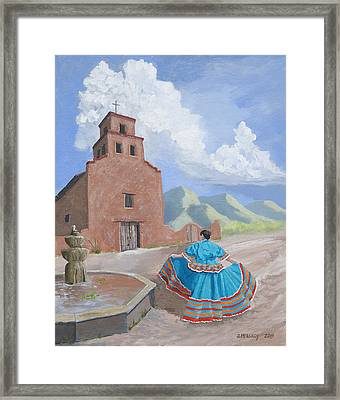 Santurario De Guadalupe Framed Print by Jerry McElroy