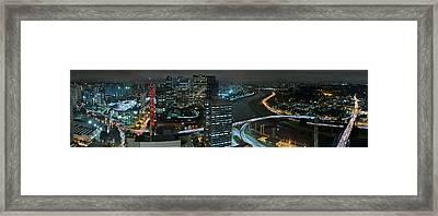 Sao Paulo Skyline Modern Corporate Districts Brooklin Morumbi Chacara Santo Antonio Framed Print by Carlos Alkmin