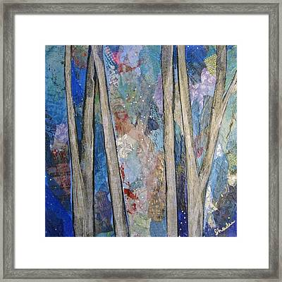 Sapphire Forest I Framed Print by Shadia Zayed