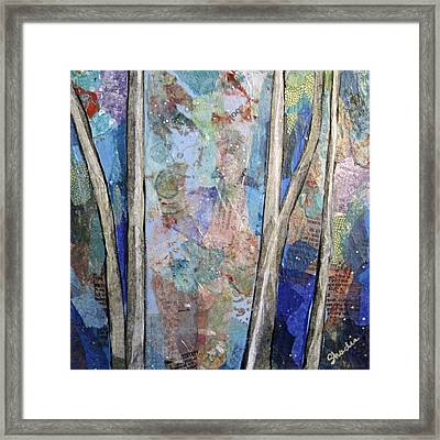 Sapphire Forest II Framed Print by Shadia Zayed