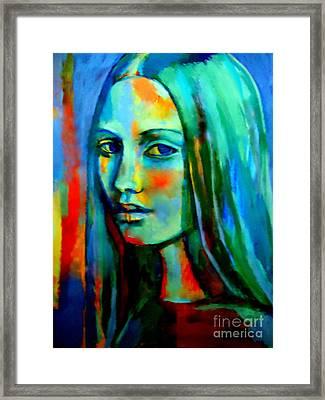 Sapphire Framed Print by Helena Wierzbicki