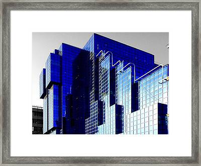 Selective Coloring Framed Print featuring the photograph Sapphire by Roberto Alamino