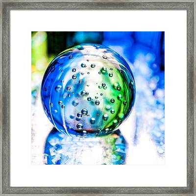 Sapphires And Emeralds II - Square Framed Print by Jon Woodhams