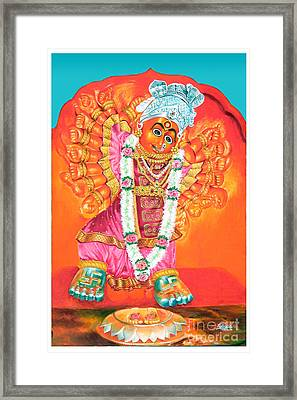 Saptashrungi Devi Nasik Maharashtra Framed Print by Kalpana Talpade Ranadive
