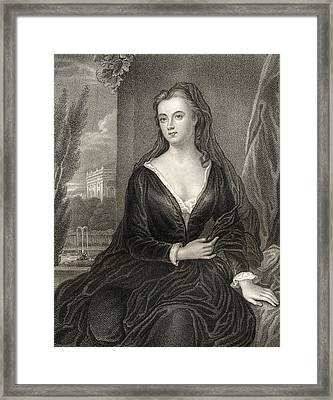Sarah Jennings, Duchess Of Marlborough Framed Print by Vintage Design Pics