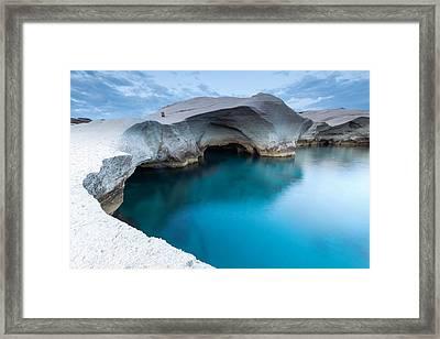 Sarakiniko Framed Print by Evgeni Dinev