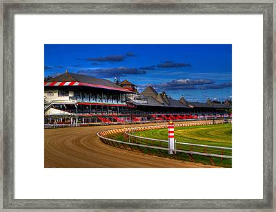 Saratoga Race Track Framed Print by Don Nieman