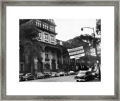 Saratoga Springs, New York, Circa 1950s Framed Print by Everett