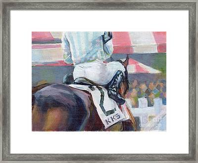 Saratoga Stripes Framed Print by Kimberly Santini