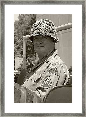Sarge - Ww2 Reenactment - Fort Knox Ky Framed Print by Thia Stover