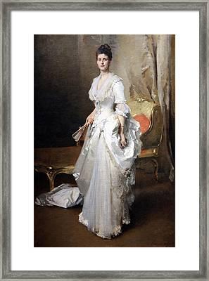 Sargent's Margaret Stuyvesant Rutherfurd White -- Mrs. Henry White Framed Print by Cora Wandel