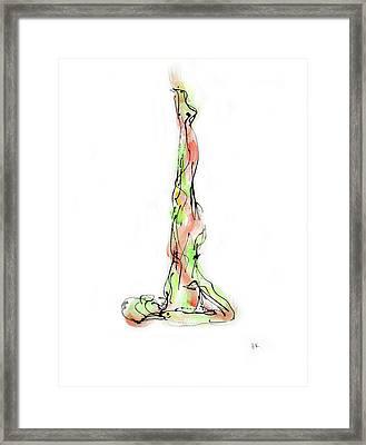 Sarvangasana Framed Print by Boryana Korcheva