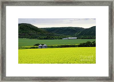 Saskatchewan Qu'appelle Valley Framed Print by Bob Christopher